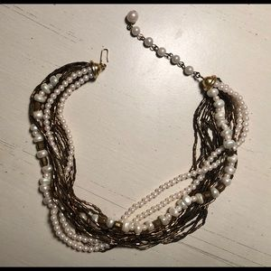 Vintage style Pearl and Bead Necklace